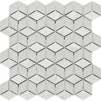 Mosaic Tile Backsplash Kitchen Bathroom Wall, Ceramic Ice Crackle Stone 3D Shape