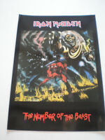 IRON MAIDEN Big Postcard/Poster 1985 30X42'50cm NWOBHM Metal NUMBER OF THE BEAST