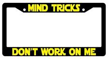 Black License Plate Frame MIND TRICKS DON'T WORK ON ME Auto Accessory -80