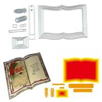 Book Nesting Dies Metal Cutting Die Set Scrapbooking Paper Card Embossing Craft