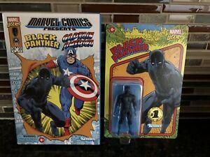 Marvel Legends Retro Black Panther Hasbro Pulse (No Captain America) & Box