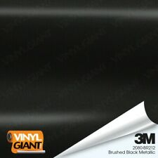 3M 2080 BR212 BRUSHED BLACK METALLIC Vinyl Vehicle Car Trim Wrap Film Sheet Roll