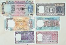 "OLD & RARE INDIA CURRENCY ""6 NOTES SET"" IN GEM UNC.............."