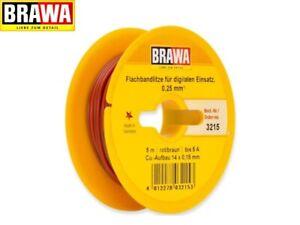 Brawa 3215 Bandkabel 0,25mm² zweiadrig 5m-Ring rot/braun (1m - 0,84 €) - NEU