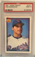 1991 Topps Traded #101T Ivan Rodriguez Texas Rangers PSA Grade 9 Rookie Card