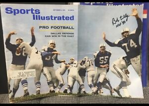 9/9/1963 SIGNED Sports Illustrated DALLAS Cowboys Bob LILLY NFL AFL Preview