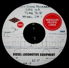 Missouri Pacific Railroad 1969 Diesel Equipment Diagrams & Data PDF Pages on DVD