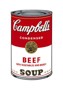Soup Can Series #1 Beef by Andy Warhol A2 High Quality Canvas Art Print