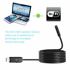 2M 6 LED USB Waterproof Endoscope Borescope Snake Inspection Video Camera 7mm DT