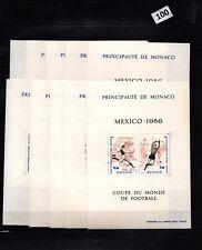 // 10X MONACO - MNH - SPORTS - SOCCER - MEXICO 1986