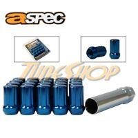 ASPEC SPLINE TUNER LOCK LUG NUTS 12X1.5 1.5 ACORN WHEELS RIMS CLOSE END BLUE L