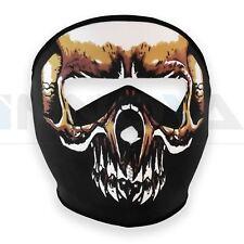Neoprene Skeleton Full Face Skull Mask Reversible Motorcycle Motor Bike Ski Quad