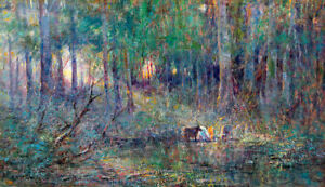Violet and Gold by Frederick McCubbin