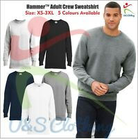 Gildan New Men's Sweatshirts Hammer Adult Perfect Crew Neck Casual Sweatshirts