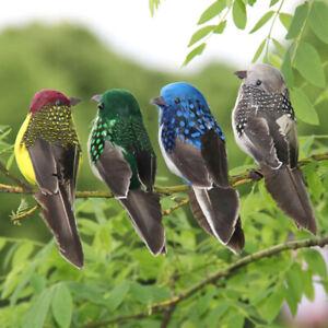 Mini fake birds artificial feather foam doves wedding Garden decors.ornament'JO