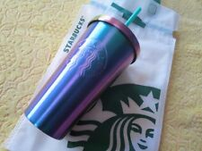 2017 Starbucks Malaysia Christmas Stainless Steel Cold Cup Shiny Blue 16 oz