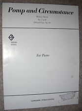 1962 POMP AND CIRCUMSTANCE Military March Sheet Music PIANO SOLO by Elgar Op.39