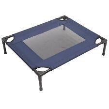 PawHut Lit Surélevé et Aéré pour Animal Domestique 76 x 61 x 18 cm Bleu Marine