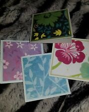 """60 assorted floral mini note cards no envelopes 2""""x2"""""""