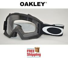 OAKLEY® PROVEN™ GOGGLES MX ATV MOTOCROSS MOTORCYCLE DIRT MATTE BLACK CLEAR LENS