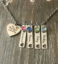 Mother Personalized Necklace Child's name birthstone Mother's day MOM gift