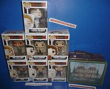 Twin Peaks POP 7 Figure Set - Dale Cooper, Laura Palmer - Funko + Lunch Box/Tote