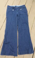 A.N.A  Trouser Blue Jeans Size 8 Dark Wash Cotton Blend Womens Flare Jeans