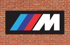 Bmw M Series Pvc Vinyl Plastic Banner 2x5ft Wall Flag Mechanic Garage or Mancave