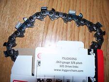 """1 75LGX105G 32"""" Oregon full chisel chainsaw chain  3/8 .063 105 DL  32 inch"""