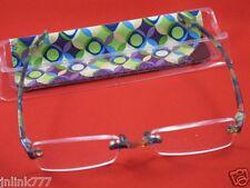 112:NEW Magnivision Line Your Eyes Unisex Reading Eyeglasses+Case-2.50