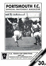 1989/90 Portsmouth v Middlesbrough, FA Youth Cup Semi Final, PERFECT CONDITION