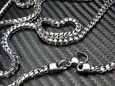 MENS 316 STAINLESS STEEL FRANCO/BOX CUBAN CURB LINK CHAIN 36 INCH 3.5MM