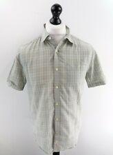 PENGUIN Mens Shirt Short Sleeve M Medium Green Check Cotton