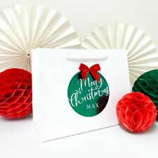 Personalised Christmas gift bag | FOIL BOUTIQUE | Merry Xmas Bags
