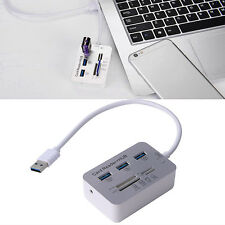 3 Port Aluminum USB 3.0 Hub With MS SD M2 TF 7-In-1 Card Reader Portable Ne