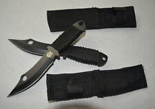 2X Brand New Small Sharp Carbon Steel Throwing Knife with Cover