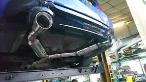 """BMW 335D 330D 335i 4.5"""" 115mm Custom Tailpipe Trim Tips Sports Exhaust Dual Exit"""