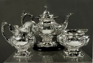 Reed & Barton Sterling Tea Set                1951 FRANCIS I