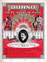 DURNO WHITE HOUSE OF MAGIC THE MAGICIAN VINTAGE ADVERTISING POSTER PRINT 505PY