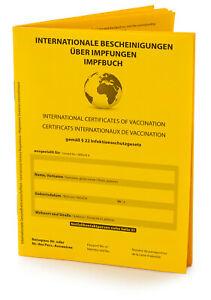 Hochwertiger internationaler Impfpass 2021 / 32 Seiten mit Notfallausweis
