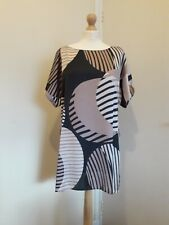 Principles By Ben De Lisi Geometric Print Pink & Black Tunic Dress BNWT Sz 16