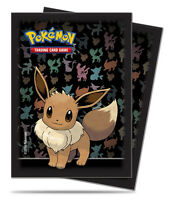 65 count Eevee Evolution Silhouette-Art Pokemon Card Sleeve Deck Protector