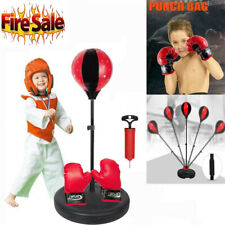 Hot Kids Punching Ball Bag Boxing Punch Exercise Sports Set With Gloves MY US
