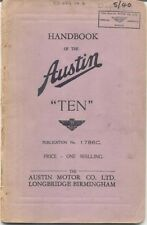 Austin diez 10 Original Manual 1940 Pub. No. 1786c