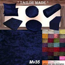 Mv35 R-Blue Crush Velvet Sofa Seat Patio Bench Box Cushion Bolster Cover/Runner