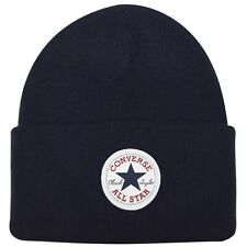 MENS WOMENS NAVY BLUE CONVERSE CUFF KNIT KNITTED WOOLLY BEENIE BEANIE BOBBLE HAT