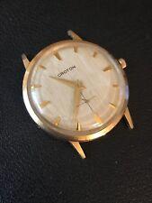 Vintage Mens Croton Gold Tone Watch 17J Cal 98 Running