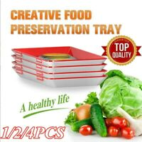 4pcs Healthy Creative Food Preservation Tray Kitchen Tools Storage Container NEU