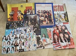HUGE LOT OF KPOP POSTERS (TWICE, GFRIEND, BTS, GIDLE, PRISTIN)