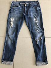 """TRUE RELIGION Damen Jeans Hose """"Audrey"""" Used Look Boyfriend Gr. 28"""